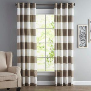 Nautica Cabana Stripe 52 in x 96 in Curtains